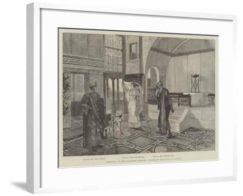 Hypatia, at the Haymarket Theatre, Issachar's Temptation of Orestes-Amedee Forestier-Framed Art Print