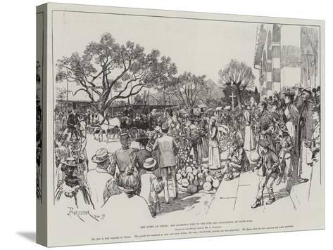 The Queen at Cimiez, Her Majesty's Visit to the Fete Des Congourdons, or Gourd Fair-Amedee Forestier-Stretched Canvas Print