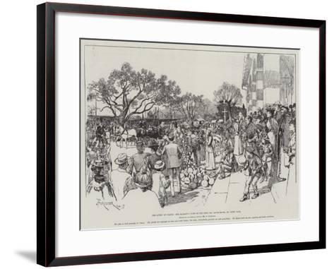 The Queen at Cimiez, Her Majesty's Visit to the Fete Des Congourdons, or Gourd Fair-Amedee Forestier-Framed Art Print