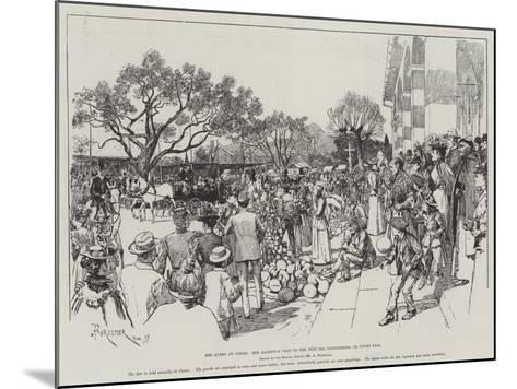 The Queen at Cimiez, Her Majesty's Visit to the Fete Des Congourdons, or Gourd Fair-Amedee Forestier-Mounted Giclee Print