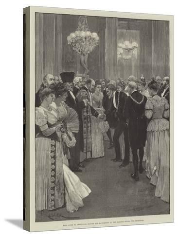 Ball Given to Provincial Mayors and Mayoresses at the Mansion House, the Reception-Amedee Forestier-Stretched Canvas Print
