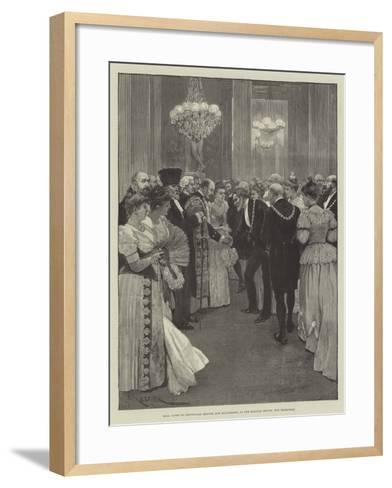 Ball Given to Provincial Mayors and Mayoresses at the Mansion House, the Reception-Amedee Forestier-Framed Art Print