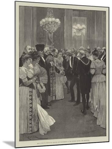 Ball Given to Provincial Mayors and Mayoresses at the Mansion House, the Reception-Amedee Forestier-Mounted Giclee Print