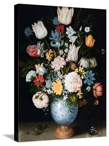 Bouquet of Flowers, 1609-Ambrosius Bosschaert the Elder-Stretched Canvas Print