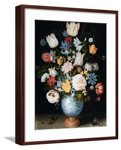 Bouquet of Flowers, 1609-Ambrosius Bosschaert the Elder-Framed Art Print