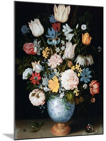 Bouquet of Flowers, 1609-Ambrosius Bosschaert the Elder-Mounted Giclee Print