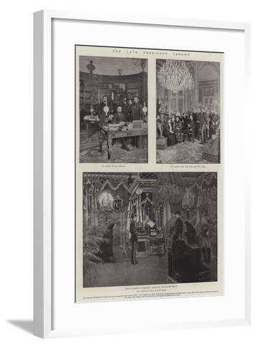 The Late President Carnot-Amedee Forestier-Framed Art Print
