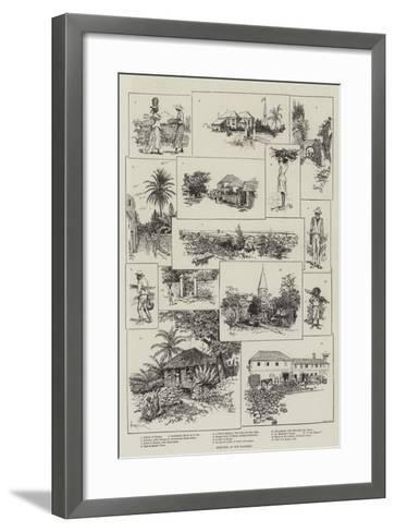 Sketches in the Bahamas-Amedee Forestier-Framed Art Print