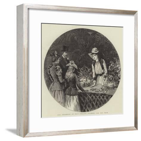 The Kermesse at Nice, Selling Flowers for the Poor-Arthur Hopkins-Framed Art Print