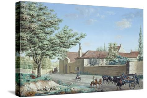 View of the Trou D'Enfer Farm Between Saint-Germain and Marly, C.1810-Antoine Pierre Mongin-Stretched Canvas Print