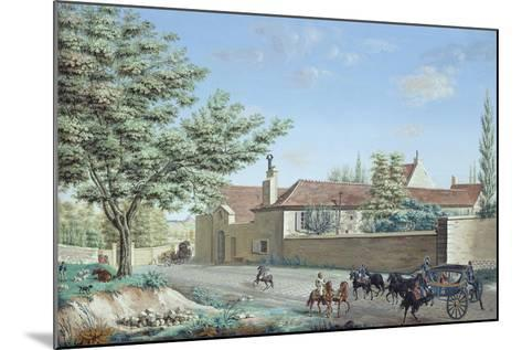 View of the Trou D'Enfer Farm Between Saint-Germain and Marly, C.1810-Antoine Pierre Mongin-Mounted Giclee Print