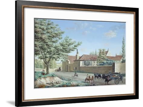 View of the Trou D'Enfer Farm Between Saint-Germain and Marly, C.1810-Antoine Pierre Mongin-Framed Art Print