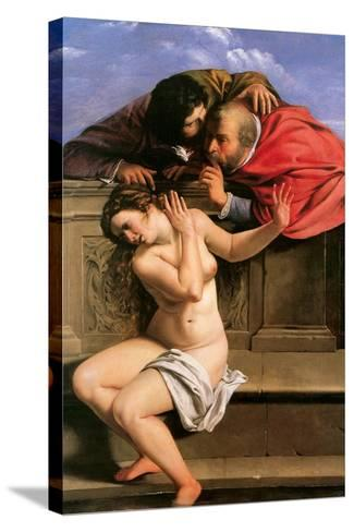 Susannah and the Elders, 1610-Artemisia Gentileschi-Stretched Canvas Print