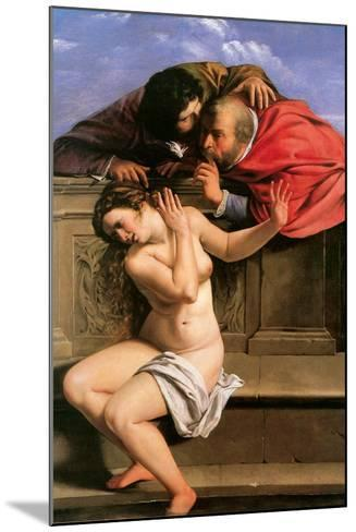 Susannah and the Elders, 1610-Artemisia Gentileschi-Mounted Giclee Print