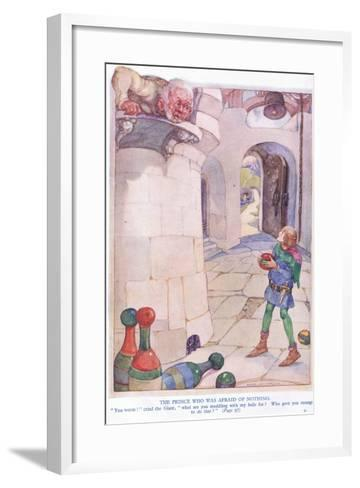 The Prince Who Was Afraid of Nothing-Anne Anderson-Framed Art Print