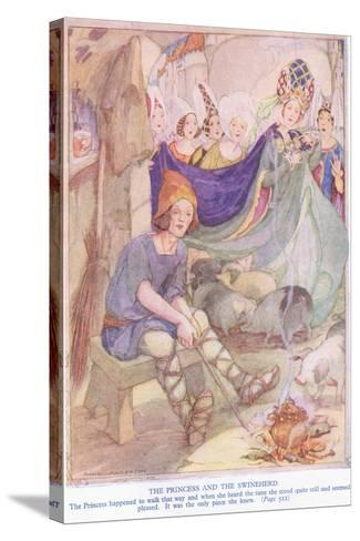 The Princess and the Swineherd-Anne Anderson-Stretched Canvas Print