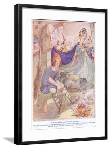 The Princess and the Swineherd-Anne Anderson-Framed Art Print