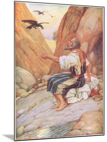 Elijah Fed by the Ravens-Arthur A^ Dixon-Mounted Giclee Print