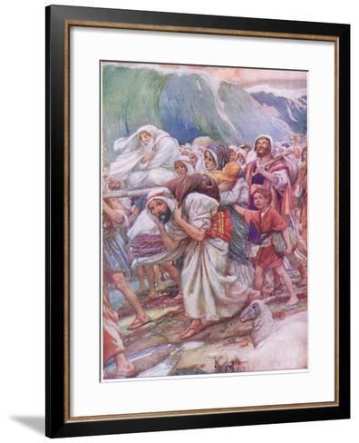 Crossing the Red Sea-Arthur A^ Dixon-Framed Art Print