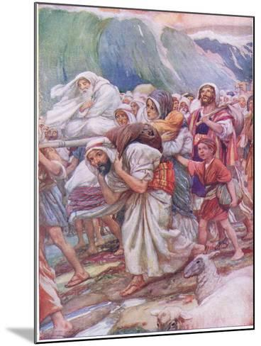 Crossing the Red Sea-Arthur A^ Dixon-Mounted Giclee Print