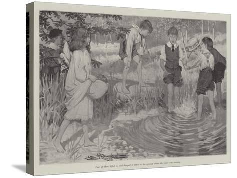 Being Beavers-Arthur Herbert Buckland-Stretched Canvas Print