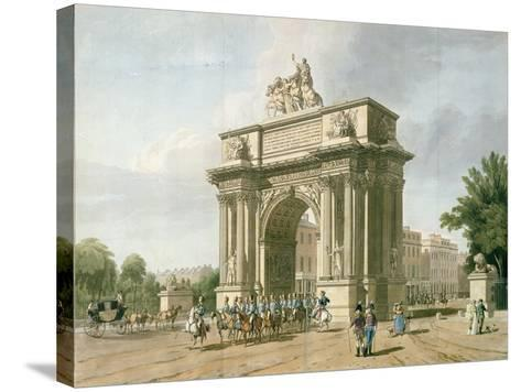View of Wellington Arch- Atkinson & Baxte-Stretched Canvas Print