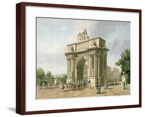 View of Wellington Arch- Atkinson & Baxte-Framed Art Print