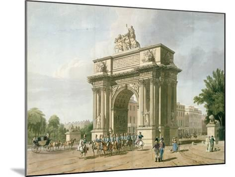 View of Wellington Arch- Atkinson & Baxte-Mounted Giclee Print
