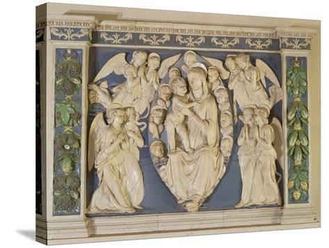 Madonna with Child with Angels-Andrea Della Robbia-Stretched Canvas Print