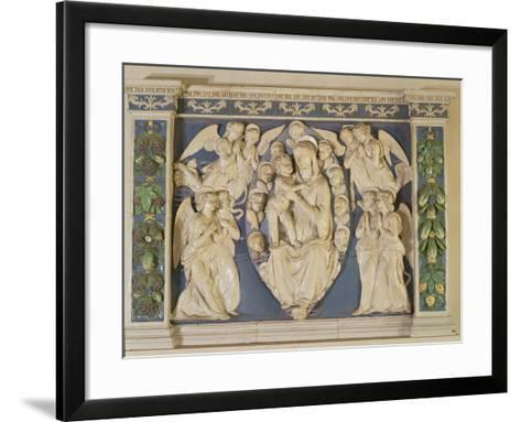Madonna with Child with Angels-Andrea Della Robbia-Framed Art Print
