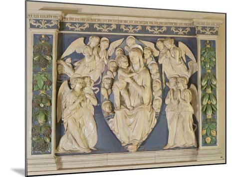 Madonna with Child with Angels-Andrea Della Robbia-Mounted Photographic Print