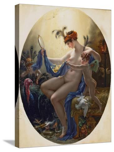 Portrait of Mlle, Lange as Danae, 1799-Anne-Louis Girodet de Roussy-Trioson-Stretched Canvas Print