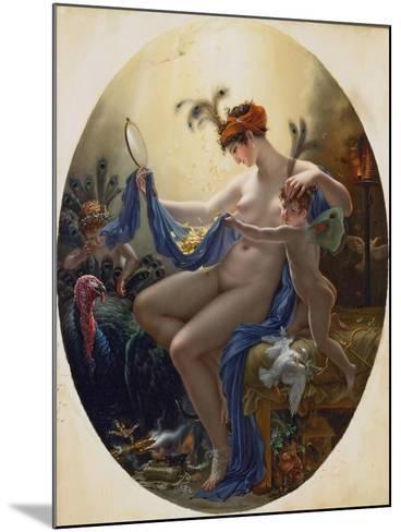 Portrait of Mlle, Lange as Danae, 1799-Anne-Louis Girodet de Roussy-Trioson-Mounted Giclee Print