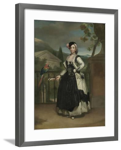 Portrait of Isabel Parreno Arce And, Marquesa De Llano, C.1771-2-Anton Raphael Mengs-Framed Art Print