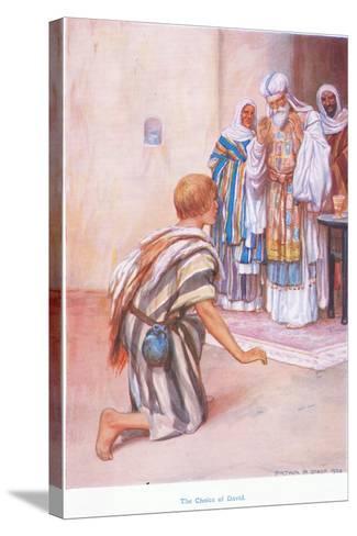 The Choice of David-Arthur A^ Dixon-Stretched Canvas Print