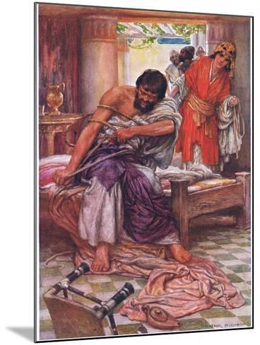 Samson Broke the Ropes That Bound Him-Arthur A^ Dixon-Mounted Giclee Print