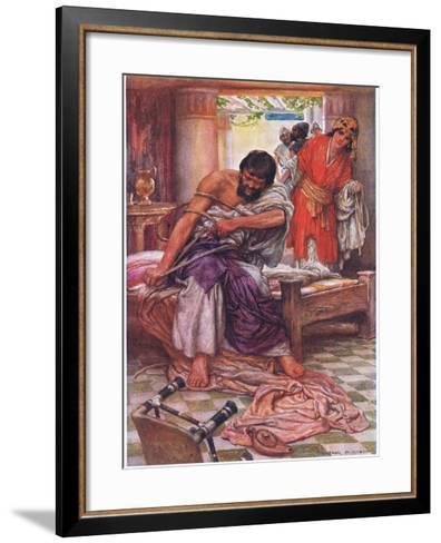 Samson Broke the Ropes That Bound Him-Arthur A^ Dixon-Framed Art Print