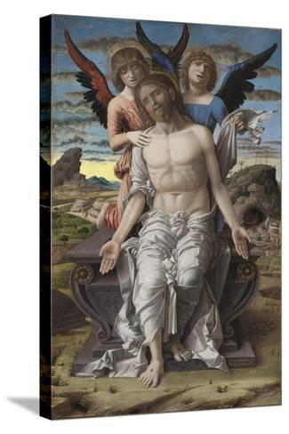 Christ as the Suffering Redeemer, 1495-1500-Andrea Mantegna-Stretched Canvas Print