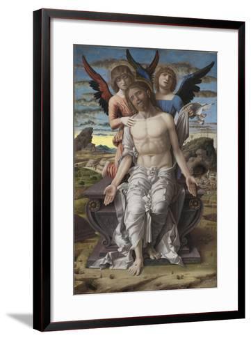 Christ as the Suffering Redeemer, 1495-1500-Andrea Mantegna-Framed Art Print