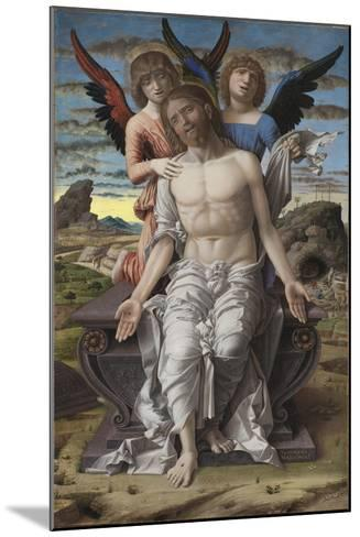 Christ as the Suffering Redeemer, 1495-1500-Andrea Mantegna-Mounted Giclee Print