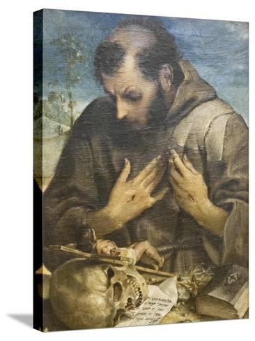 The Penitent St Francis, C.1585-Annibale Carracci-Stretched Canvas Print