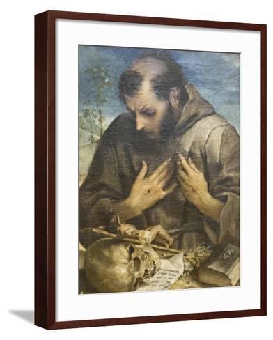 The Penitent St Francis, C.1585-Annibale Carracci-Framed Art Print