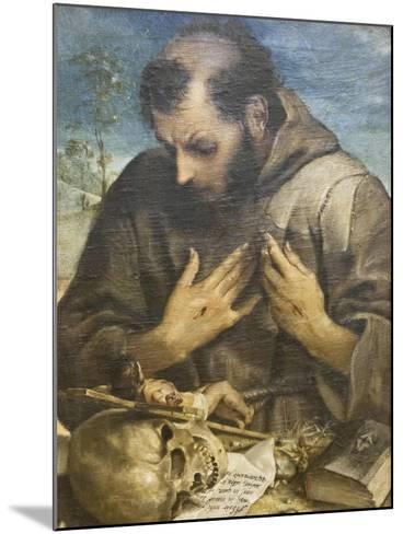 The Penitent St Francis, C.1585-Annibale Carracci-Mounted Giclee Print
