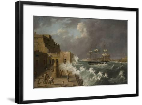 Harbour Scene, Malta-Anton Schranz-Framed Art Print