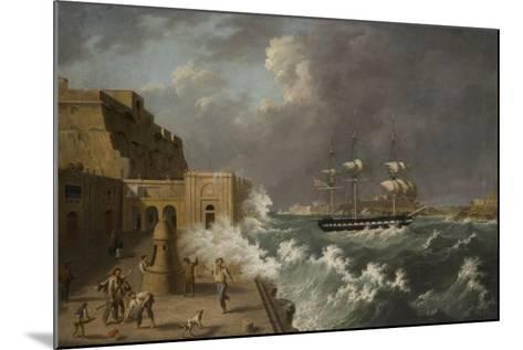 Harbour Scene, Malta-Anton Schranz-Mounted Giclee Print