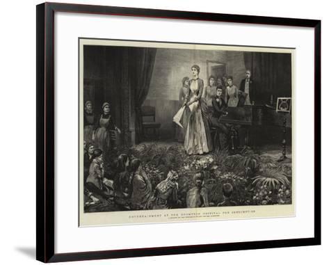 Entertainment at the Brompton Hospital for Consumption-Arthur Hopkins-Framed Art Print