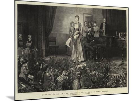 Entertainment at the Brompton Hospital for Consumption-Arthur Hopkins-Mounted Giclee Print