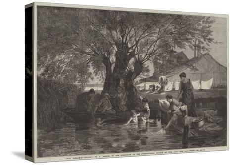 The Bleaching-Ground-Auguste Joseph Herlin-Stretched Canvas Print