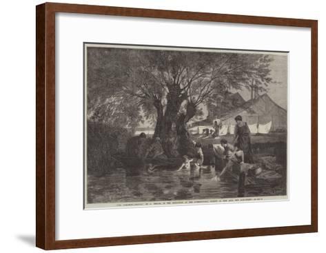 The Bleaching-Ground-Auguste Joseph Herlin-Framed Art Print