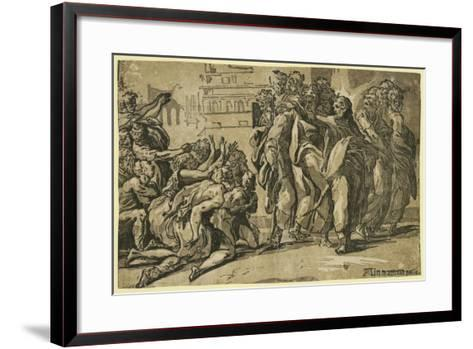 Christ Curing the Lepers-Andrea Michieli-Framed Art Print